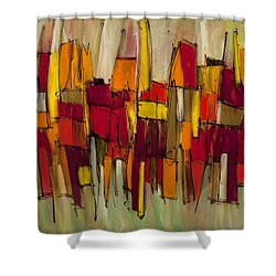 Sound And Fury Three Shower Curtain by Lynne Taetzsch