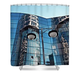 Sound Of Glass Shower Curtain