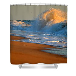 Sound Of The Surf Shower Curtain by Dianne Cowen