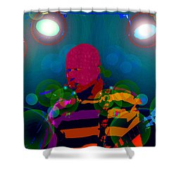 Sound Waves Shower Curtain by David Lee Thompson