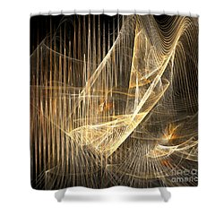 Sound Waves In 3d Shower Curtain