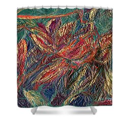 Sounds Of The Forest Shower Curtain by Veronica Rickard