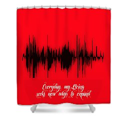 Soundwave Message Shower Curtain by Marvin Blaine
