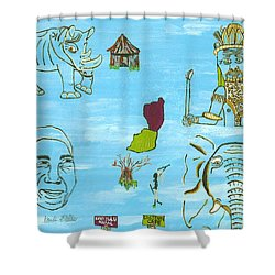 South Africa East   Sep Shower Curtain