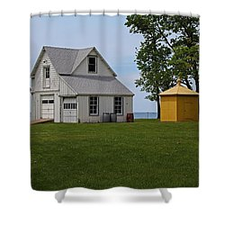 South Bass Island Lighthouse Barn And Oil Storage Building I Shower Curtain