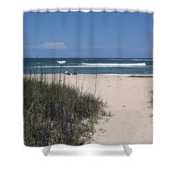 South Beach Shower Curtain by Allan  Hughes
