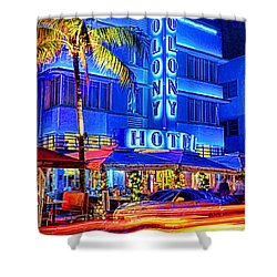 South Beach Art Deco Shower Curtain by Dennis Cox WorldViews