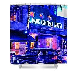 South Beach Hotel Shower Curtain by Dennis Cox WorldViews