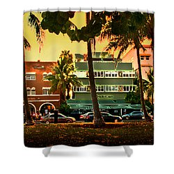 South Beach Ocean Drive Shower Curtain