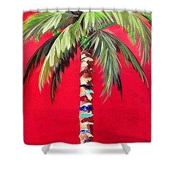 South Beach Palm II Shower Curtain