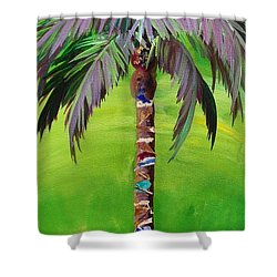 South Beach Palm IIi Shower Curtain