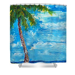 South Beach Wall Shower Curtain