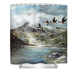 South Before Winter Shower Curtain by David Jansen
