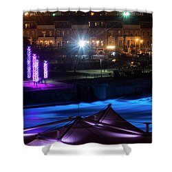 South Bend River Night Shower Curtain