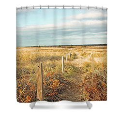 South Cape Beach Trail Shower Curtain by Brooke T Ryan