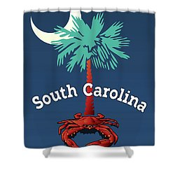 South Carolina Palmetto Crab Shower Curtain
