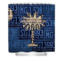South Carolina State Flag Vintage License Plate Art Shower Curtain by Design Turnpike