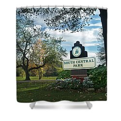South Central Park - Autumn Shower Curtain