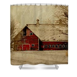 South Dakota Barn Shower Curtain by Julie Hamilton