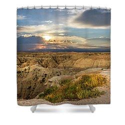 South Dakota Sunrise Shower Curtain