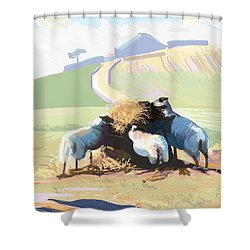 South Downs Way Shower Curtain