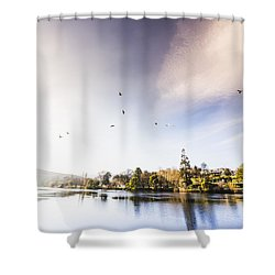 Shower Curtain featuring the photograph South-east Tasmania River Landscape by Jorgo Photography - Wall Art Gallery