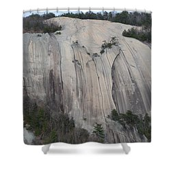 South Face - Stone Mountain Shower Curtain by Joel Deutsch