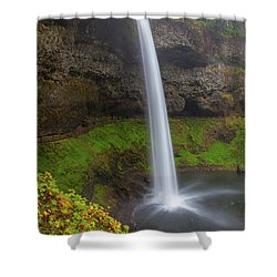 South Falls At Silver Falls State Park Shower Curtain by David Gn