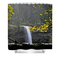 South Falls Of Silver Creek Shower Curtain