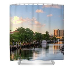 South Florida Canal Living Shower Curtain