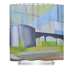 South Hackensack Tanks Shower Curtain by Ron Erickson