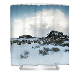 South Hessary Tor In The Snow II Shower Curtain