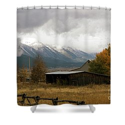 South Idaho Rt 20 Shower Curtain by Cindy Murphy - NightVisions