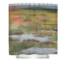 South Jersey Marsh Shower Curtain