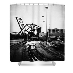 South Loop Railroad Bridge Shower Curtain