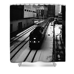 South Loop Railroad Shower Curtain