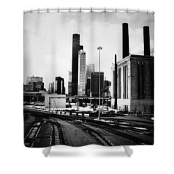 South Loop Railroad Yard Shower Curtain