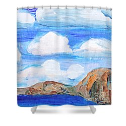 South Morro Bay View To North Shower Curtain