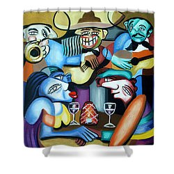 South Of The Boarder Shower Curtain by Anthony Falbo