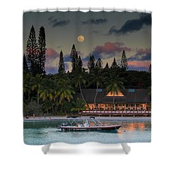 South Pacific Moonrise Shower Curtain