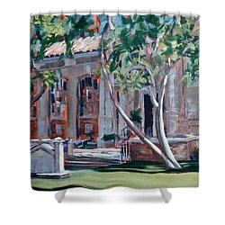 South Pasadena Library Shower Curtain by Richard Willson