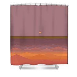 Shower Curtain featuring the digital art South Sea Abstract by Val Arie