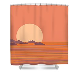 Shower Curtain featuring the digital art South Sea by Val Arie