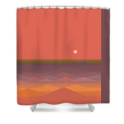 Shower Curtain featuring the digital art South Seas Abstract by Val Arie