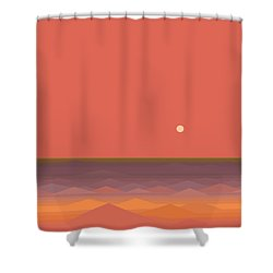 Shower Curtain featuring the digital art South Seas Abstract - Vertical by Val Arie