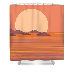 Shower Curtain featuring the digital art South Seas by Val Arie