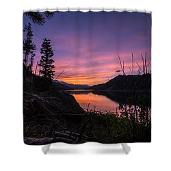 South Shore Lake Dillon Sunset Shower Curtain by Michael J Bauer