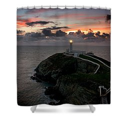 South Stack At Sunset Shower Curtain