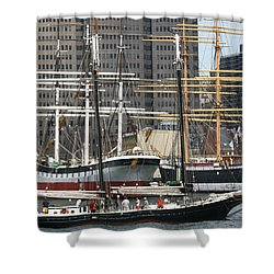 South Street Seaport Pioneer Shower Curtain
