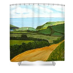 South West England Countryside Cotswold Area Shower Curtain by Rod Jellison